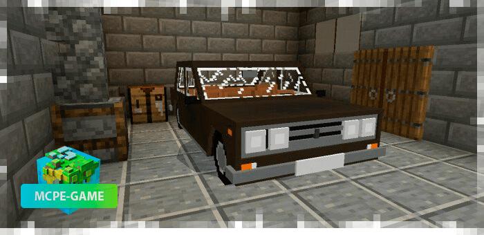 ВАЗ 2106 на Майнкрафт ПЕ в коричневом цвете