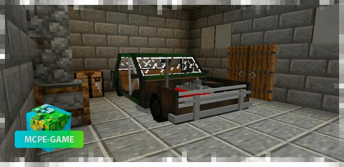 ВАЗ 2106 на Майнкрафт ПЕ хот-род версия