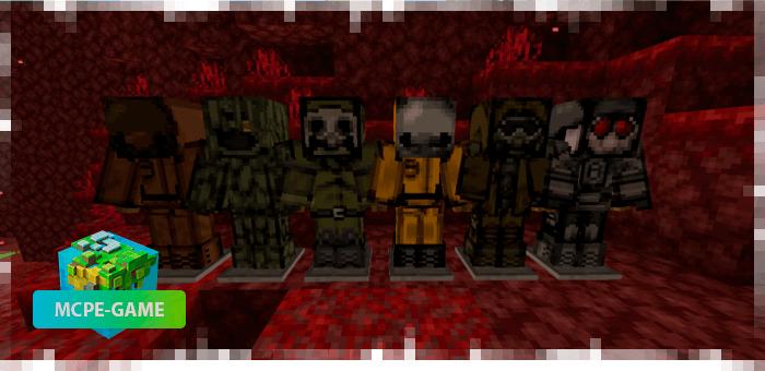 Защитные костюмы в моде на апокалипсис Zero Zone на Майнкрафт ПЕ