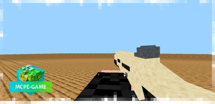 SCAR из мода на огнестрельное оружие 3D Guns & Weapon
