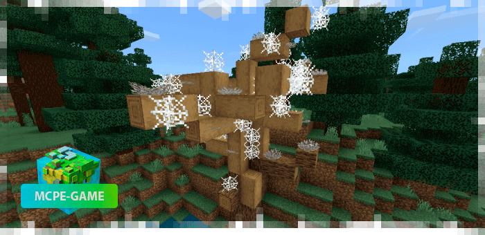 Высохшее дерево из мода на реалистичные деревья Aesthetic Trees в Minecraft PE