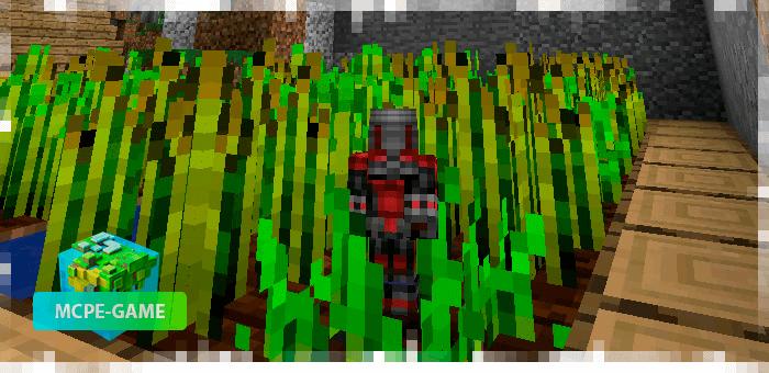 Превращение в Человека-Муравья из мода Ant Man на Minecraft PE