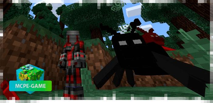Черный муравей из мода Ant Man на Minecraft PE