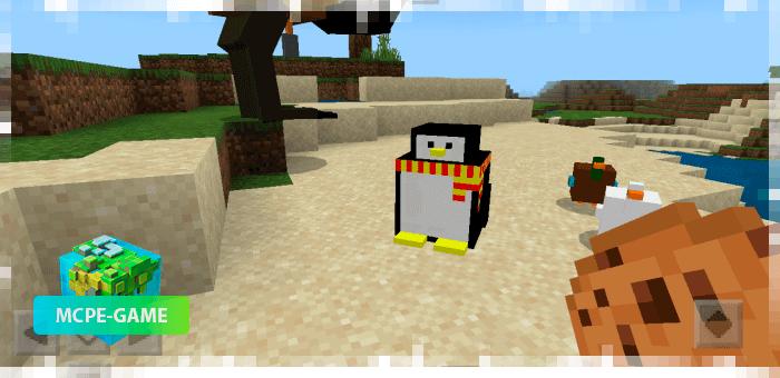 Пингвин из мода на птиц BirdsPlus на Майнкрафт ПЕ