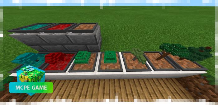 Все виды деревьев из мода Easy Bonsai в Minecraft PE