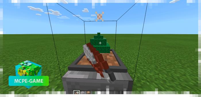 Процесс остановки производства древесины из мода Easy Bonsai в Minecraft PE