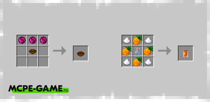 Новые рецепты крафта еды из мода Bum_Crops на Майнкрафт ПЕ