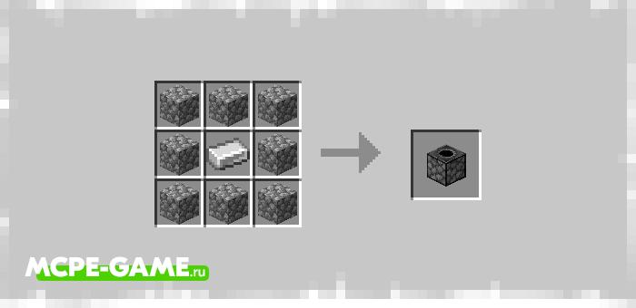 Рецепты крафта новых предметов из мода Cave Enhancements на Майнкрафт ПЕ