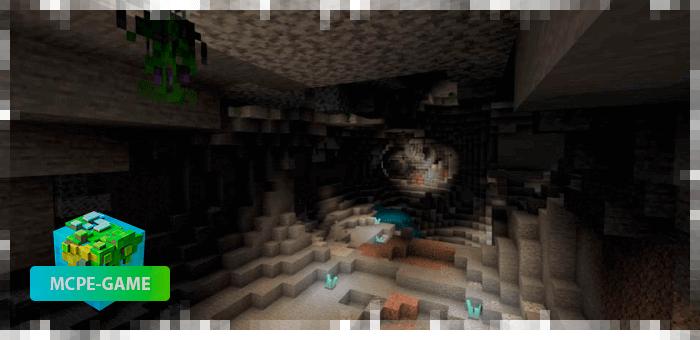 Обновленный генератор подземелий из мода Cave Enhancements на Майнкрафт ПЕ