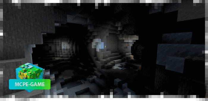 Новые пещеры с биомами из мода Cave Enhancements на Майнкрафт ПЕ