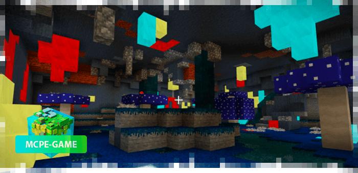 Новые данжи и локации из мода Cave Enhancements на Майнкрафт ПЕ