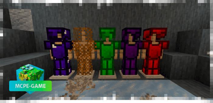 Новая броня из мода Cave Enhancements на Майнкрафт ПЕ