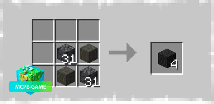 Новые руды и рецепты крафта из мода Cavern на Minecraft PE
