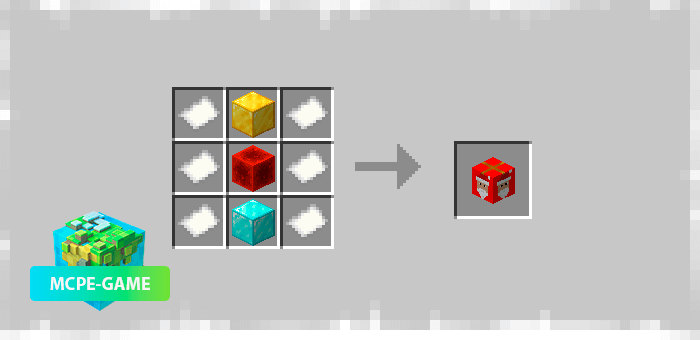 Recipe for crafting a Christmas calendar with gifts from the Christmas Calendar mod