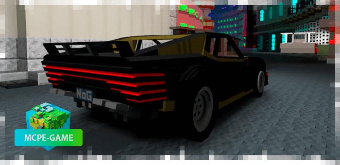 Quadra V-Tech из мода Cyberpunk 2077 на Майнкрафт ПЕ