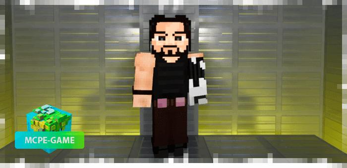 Джонни Сильверхенд из мода Cyberpunk 2077 на Майнкрафт ПЕ