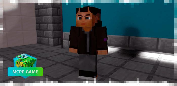 Джеки из мода Cyberpunk 2077 на Майнкрафт ПЕ