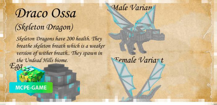 Дракон Осса из мода Dragon Mounts 2 на Майнкрафт ПЕ