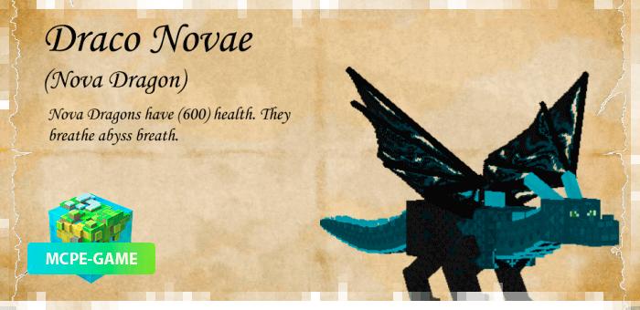 Дракон Нова из мода Dragon Mounts 2 на Майнкрафт ПЕ