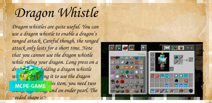 Рецепт крафта дудуочки из мода Dragon Mounts 2 на Майнкрафт ПЕ