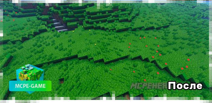 После установки мода на улучшение биомов на Майнкрафт ПЕ