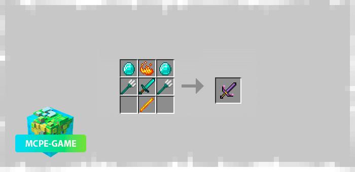 Меч молний из мода Elemental Swords на Майнкрафт ПЕ