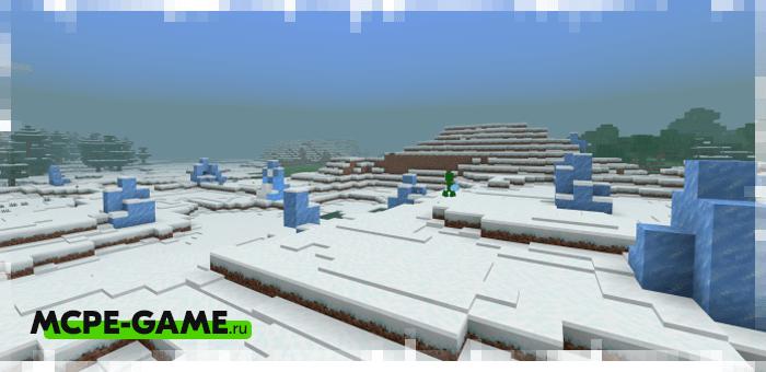 Новые биомы из мода The Frosted Expansion Pack на Майнкрафт ПЕ
