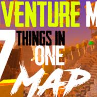 Карта Мир Развлечений — паркур, лабиринт, скайблок и американские горки!