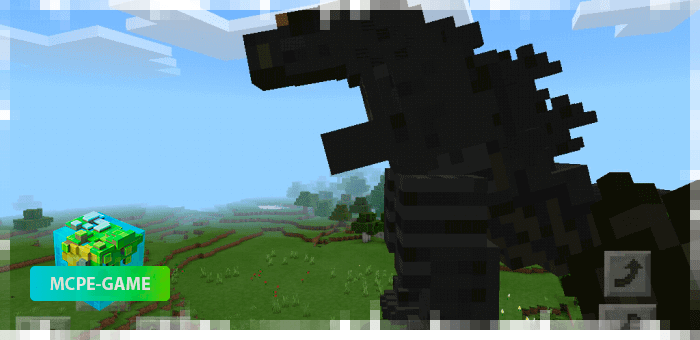 Годзилла из мода на мутантов Godzilla King для Minecraft PE