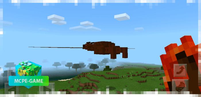Родан из мода на мутантов Godzilla King для Minecraft PE