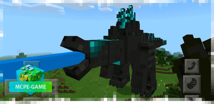 Заряженный Годзилла из мода на мутантов Godzilla King для Minecraft PE
