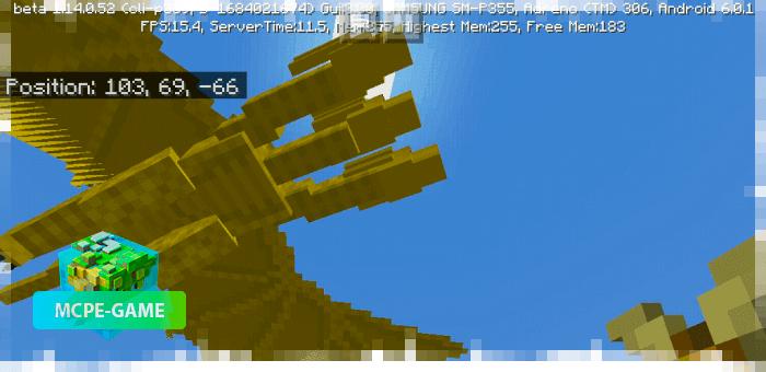Летающий Гидора из мода на мутантов Godzilla King для Minecraft PE