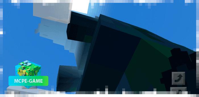 Земляной Годзилла из мода на мутантов Godzilla King для Minecraft PE