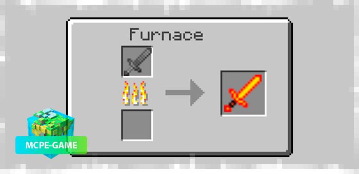 Переплавка стального меча в огненный