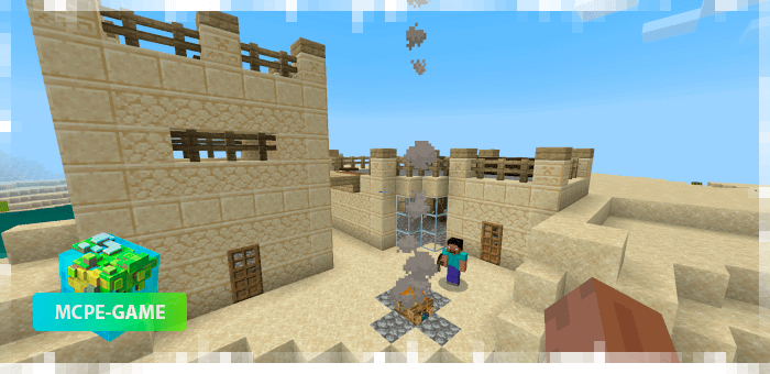 Buildings from the world generation mod More Structures