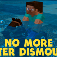 No More Water Dismounts — Мод на передвижение по воде на лошади