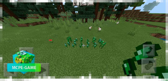 Выращивание изумрудов с модом Ore Crops на Майнкрафт ПЕ
