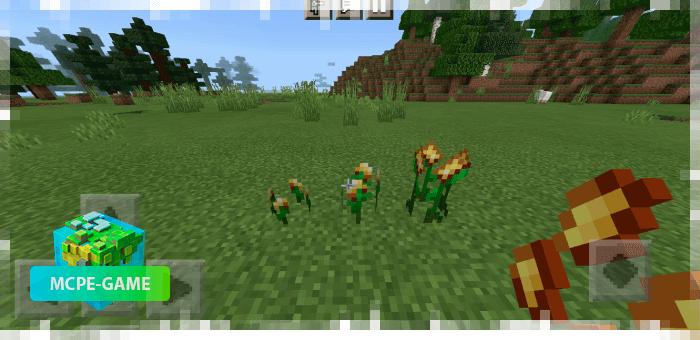 Выращивание золота с модом Ore Crops на Майнкрафт ПЕ