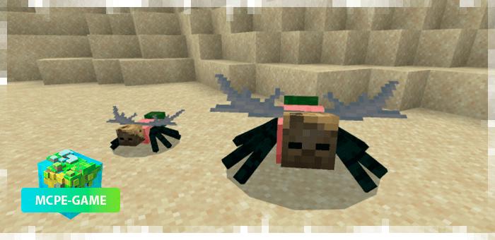 Мутировавший паук из мода Oxi! для Minecraft PE