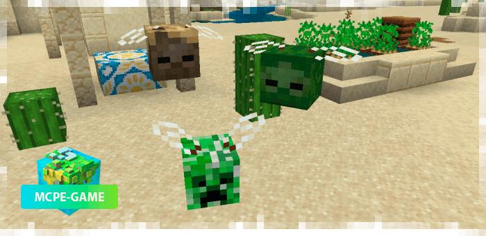 Летающие головы паук из мода Oxi! для Minecraft PE