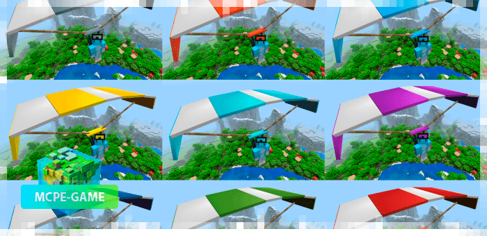 10 видов парашютов в Майнкрафт ПЕ