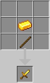 A short golden blade