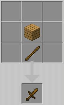 Short wooden blade