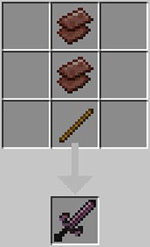 A sword made of neserite scrap