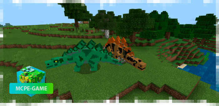 Stegosaurus from the Prehistoric Rift mod in Minecraft PE