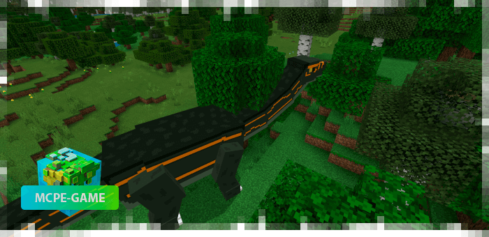 Apatosaurus from the Prehistoric Rift mod in Minecraft PE