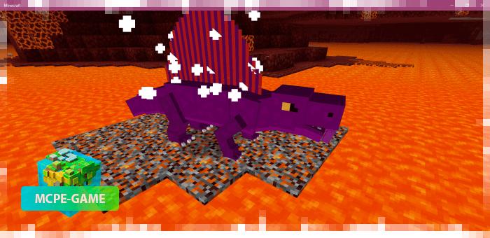 Dimetrodons from the Prehistoric Rift mod in Minecraft PE