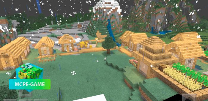 Сид на деревни на равнине для Майнкрафт ПЕ