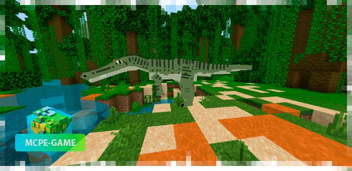 Барионикс из мода на динозавров Project Spinosaurid для Minecraft PE