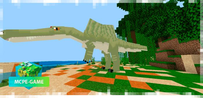Египетский Спинозавр из мода на динозавров Project Spinosaurid для Minecraft PE
